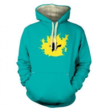 Yellow Pikachu Silhouette hoodie (premium)