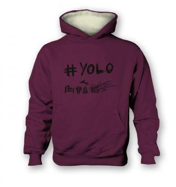 #YOLO   kids hoodie (contrast)
