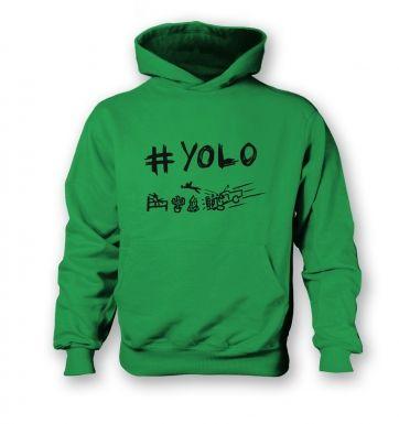 #YOLO  kids hoodie