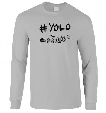 #YOLO long-sleeved t-shirt
