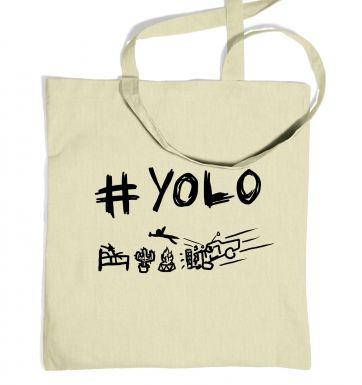 #YOLO tote bag