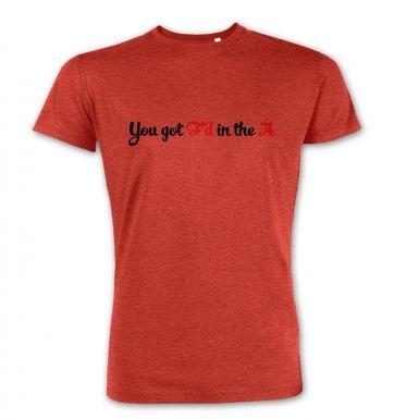 You got Fd in the A  premium t-shirt