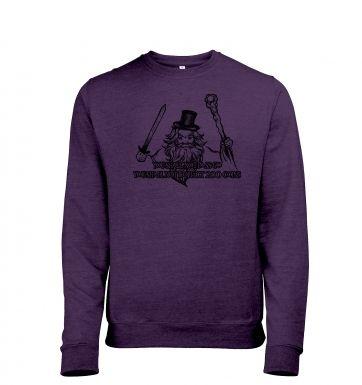 You Shall Not Pass Go heather sweatshirt