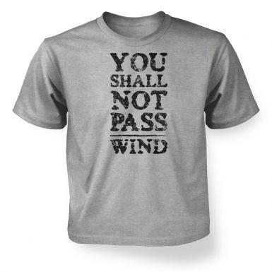 you shall not pass wind  kids t-shirt