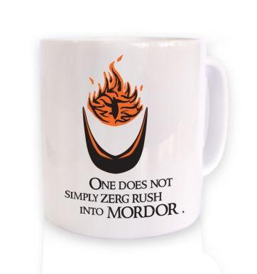Zerg Rush into Mordor mug